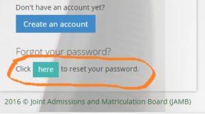 Invalid login credentials, email address, password jamb caps