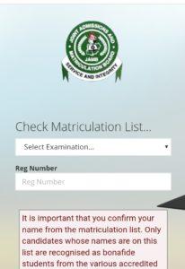 nysc Matriculation list