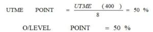 Utme grading system