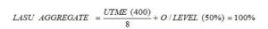 UTME score calculator