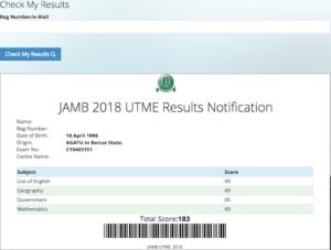 Jamb result checker
